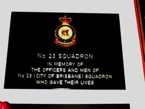 No 23 Squadron Plaque