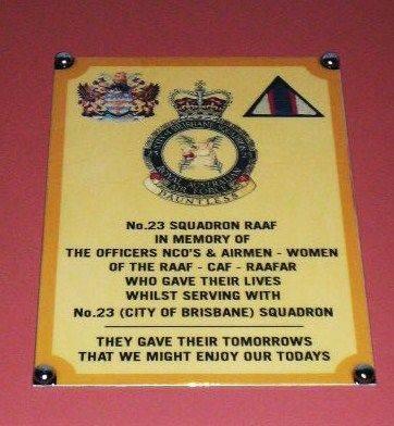 No 23 Squadron RAAF Plaque