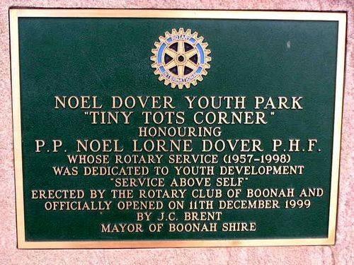 Noel Dover Plaque