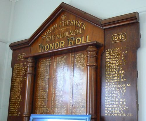 North Creswick State School Honour Roll : 20-May-2012