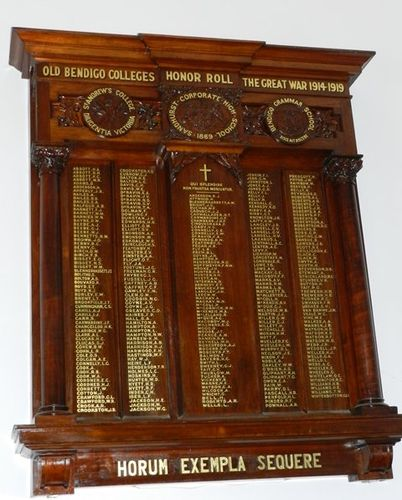 Old Bendigo Colleges Honour Roll : 18-June-2013
