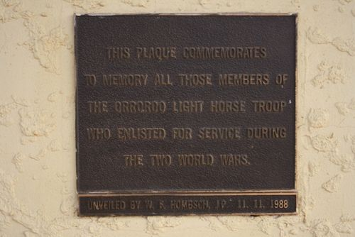 Light Horse Troop Plaque : May 2014