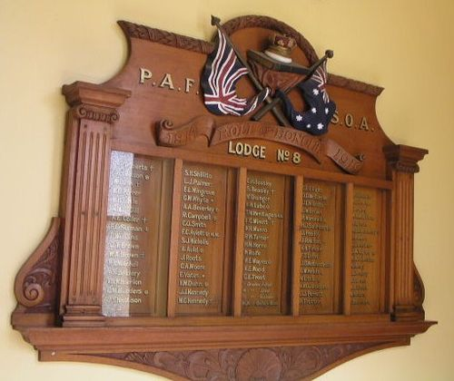 PAFSOA Roll of Honour