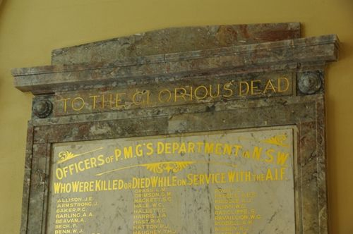 PMG Honour Roll Closeup