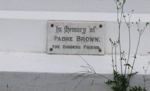 Padre Brown Plaque