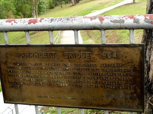 Pamphlett Bridge Plaque