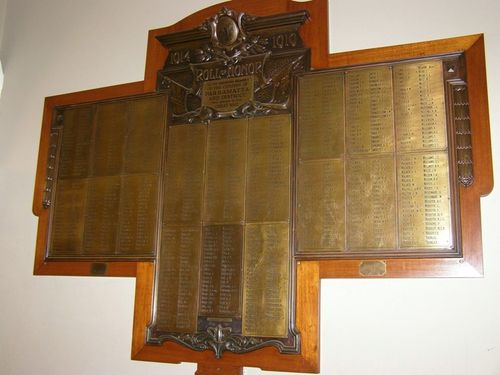 Great War Honour Roll : 30-August-2014