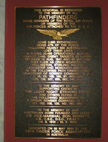 Pathfinders Memorial Plaque