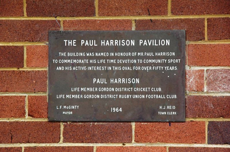Paul Harrison Plaque:24-January-2016