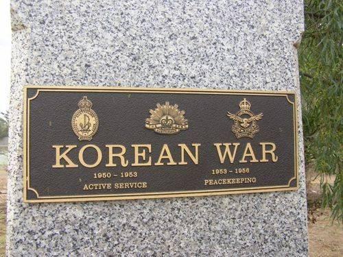 Korean War Plaque : 06-04-2014