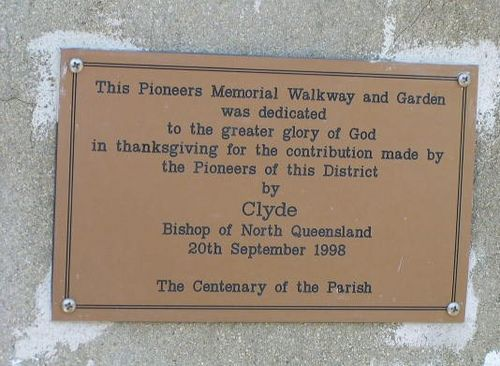 Pioneers Memorial Garden + Walkway Plaque