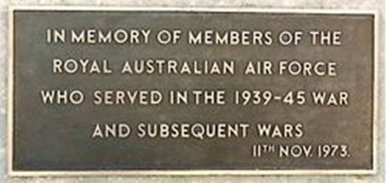 Cenotaph Memorial Plaque 1973:25-February-2016