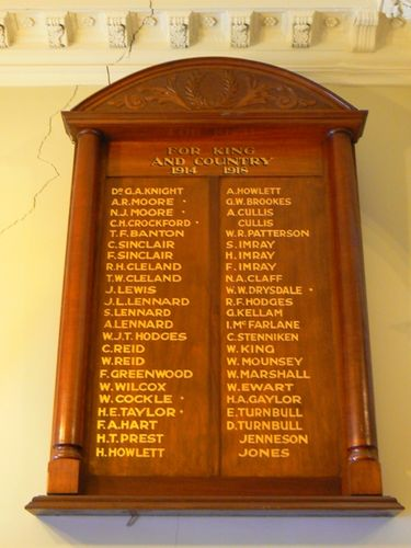 Port Melbourne Roll of Honour World War One