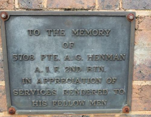 Private A. G. Henman : 19-July-2011