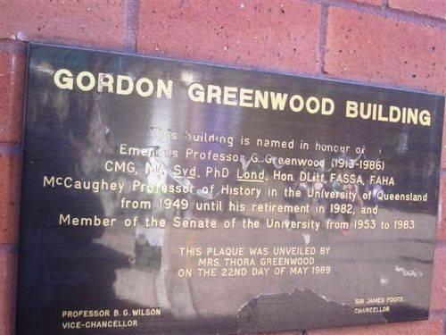 Gordon Greenwood Plaque : 04-08-2013