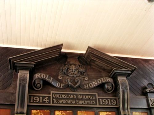 Qld Railways Roll of Honour Top Section