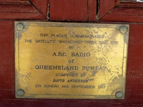 Queensland Sunday Plaque : 13-10-2013