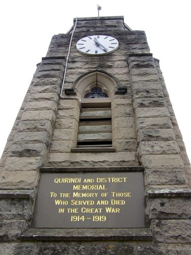 Quirindi & District War Memorial Closeup : 16-August-2014