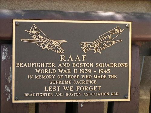 RAAF Beaufighter and Boston Squadrons Plaque