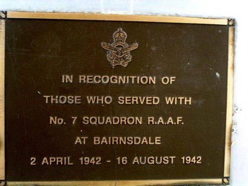Raaf No 7 Squadron Plaque