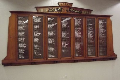 Remembrance Wall Honour Roll : 20-March-2014