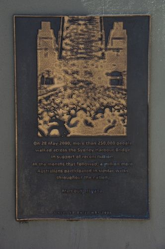 Reconciliation Walk Plaque / April 2013