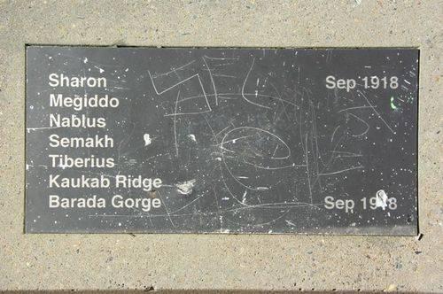Memorial Avenue Plaque 4 : March 2014
