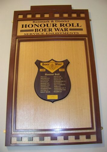 Renmark & District Boer War Honour Roll