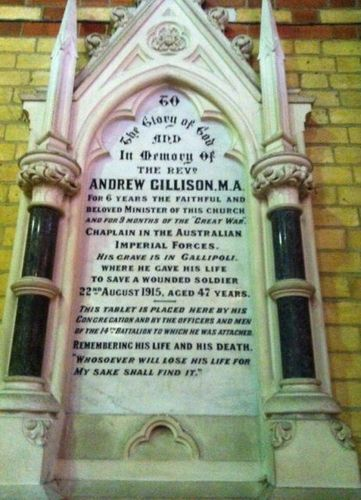 Reverend Andrew Gillison : 12-July-2012