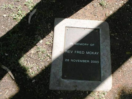 Reverend Fred Mackay Plaque