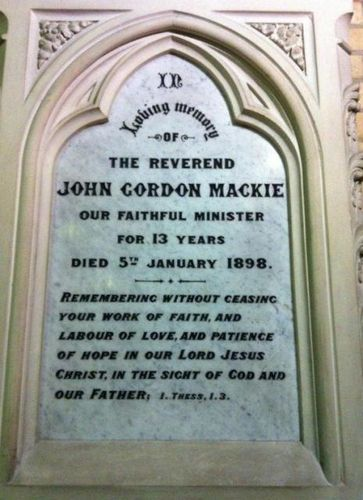 Reverend John Gordon Mackie : 12-July-2012