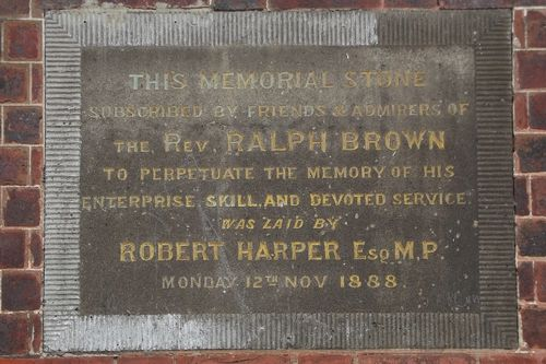 Rev. Brown Memorial Stone : July-2014