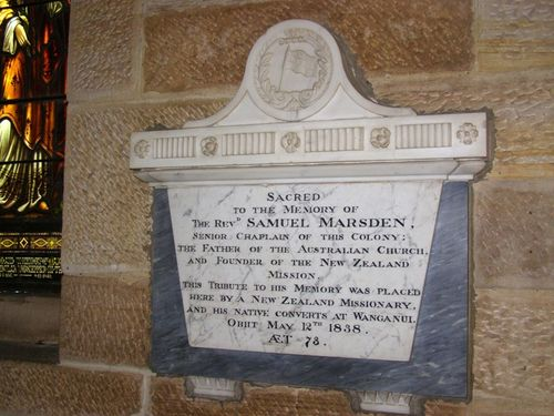 Reverend Marsden Plaque : 30-August-2014