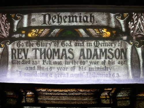 Reverend Thomas Adamson : 08-December-2011