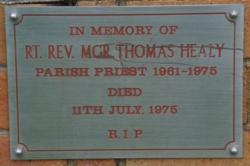Reverend Healy Plaque : July 2014