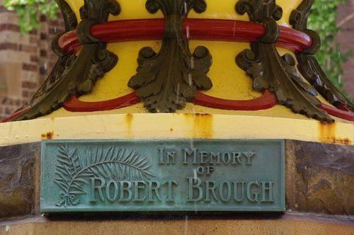 Robert Brough Fountain Plaque Closeup