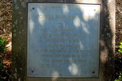 Robert Windle Plaque : April 2014