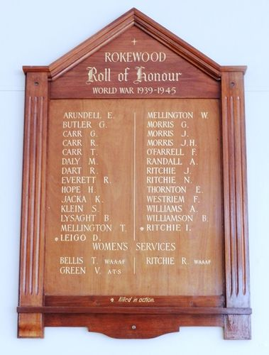 Rokewood Honour Roll : 03-April-2013