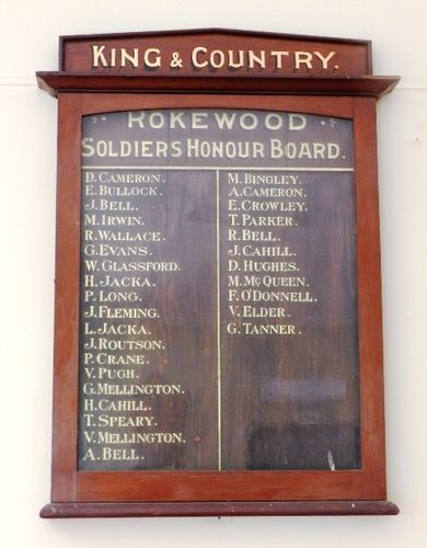 Rokewood Soldiers Honour Board : 03-April-2013
