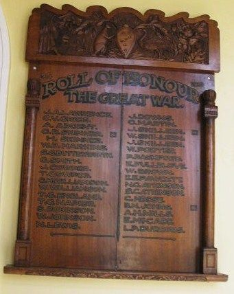 Roll of Honour The Great War