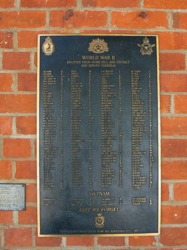 Roll of Honour World War Two and Vietnam : 25-April-2011