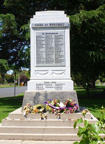 Rosedale War Memorial : 12-December-2011