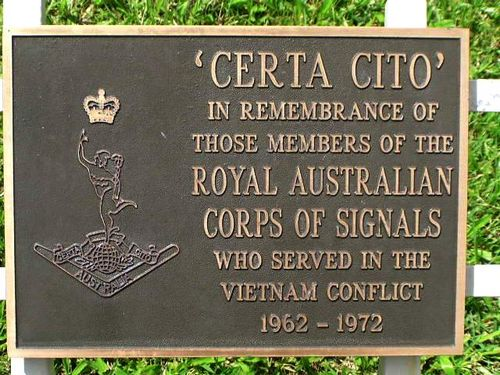 Royal Australian Corps of Signals Vietnam Plaque / March 2013