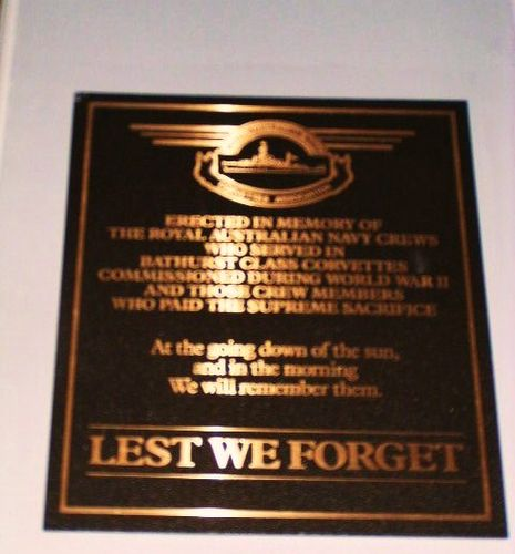 Royal Australian Navy Corvettes Plaque