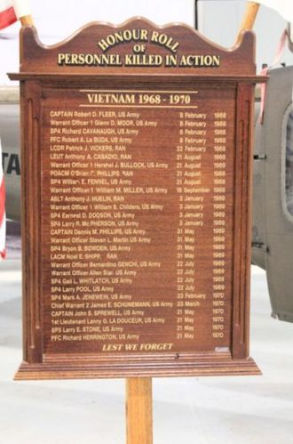Royal Australian Navy Helicopter Flight Vietnam Roll of Honour : 10-July-2011