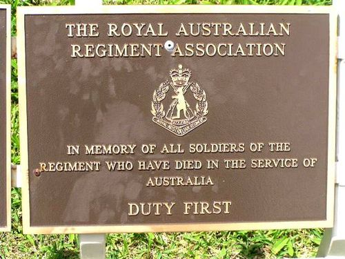 Royal Australian Regiment Association Plaque / March 2013