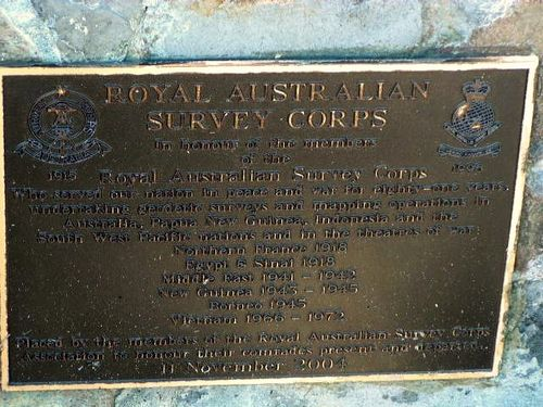 Royal Australian Survey Corps Plaque