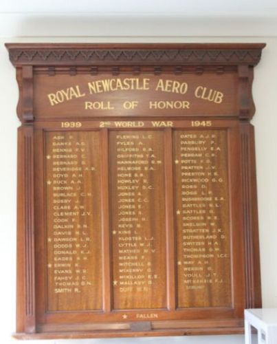 Royal Newcastle Aero Club Roll of Honor : 11-August-2011
