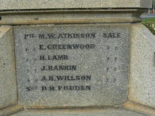 Sale Boer War Memorial   Left Side