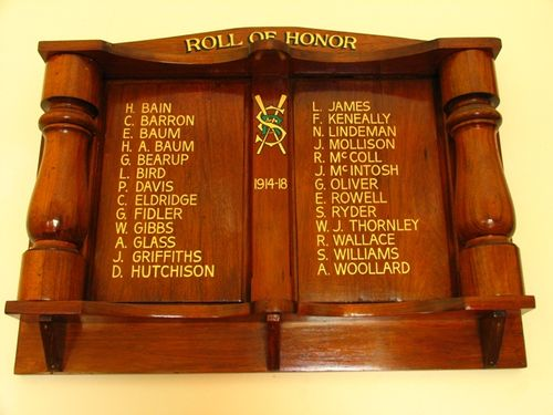 Sale Rowing Club Roll of Honour 1914 - 18 : 13-December-2011